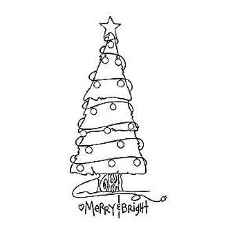 Spellbinders Merry et Bright Tree Cling Stamp Set (SBS-062)