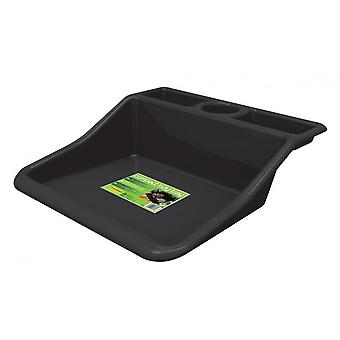 Compact Garden Tidy Hobby Craft Tray - Black Polypropylene Waterproof