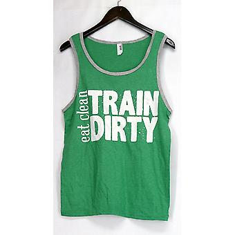 Anvil Top Graphic Printed Scoop Neck Tank Green Womens
