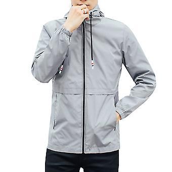 Allthemen Men's Jacket Solid Loose Hooded Casual Outwear Jacket