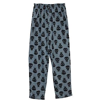 パニッシャーロゴリピートメン&アポス;sパジャマパンツ