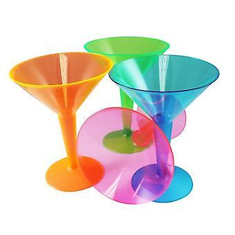 Luovaa puolue valikoituja muovi Martini lasit (pakkaus sisältää 12)
