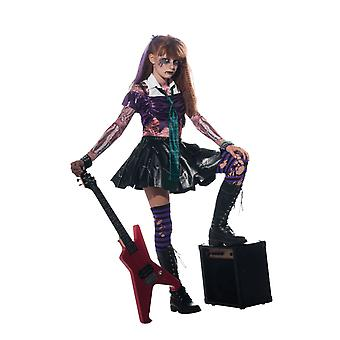 Girls Age 3 - 8 Years Zombie Rockstar Halloween Horror Monster Fancy Dress Costume