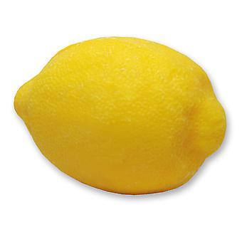 Florex Schafmilchseife - Zitrone dunkel- frischer zitroniger Duft in Zitronenform für Dekoration Geschenk 140 g