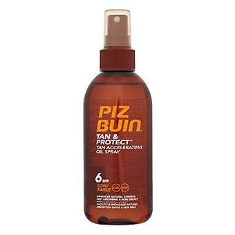 Huile Solaire Tan & Protect Piz Buin SPF 6 (150 ml)