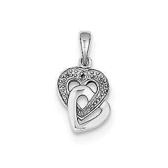 925 Ayar Gümüş Cilalı Rodyum kaplama Elmas Accent Love Heart Kolye Takı Takı Lar Kadınlar için