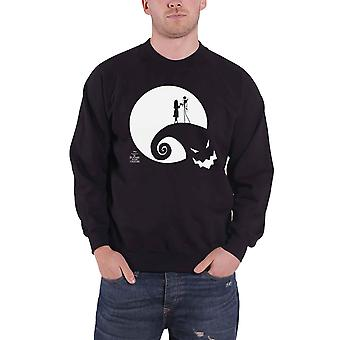 The Nightmare Before Christmas Sweatshirt Moon Oogie Boogie Official Mens