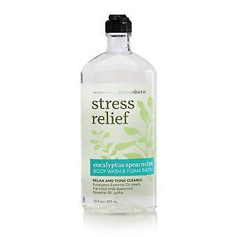 (2 Pack) Bath & Body Works Stress Relief Eucalyptus Spearmint Body Wash & Foam Bath 10 oz/295 ml