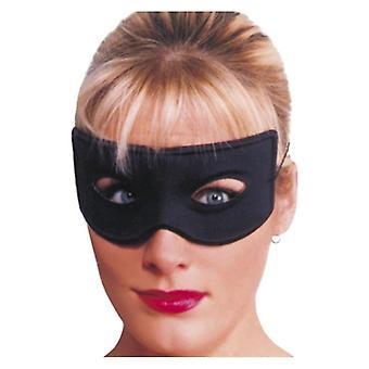 Erwachsene schwarz Bandit Eyemask Fancy Dress Zubehör
