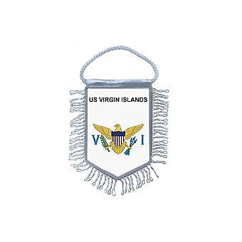 Sinalizar mini bandeira país decoração do carro Ilhas Virgens americanas