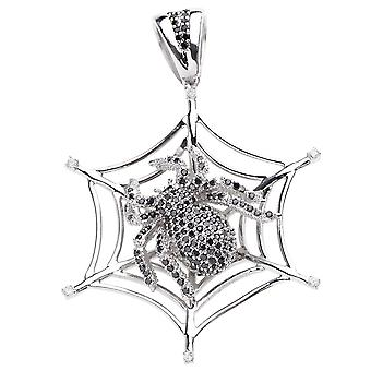 925 iced out sterling silver pendant - SPIDER