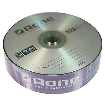 Aone CD-R Logo 25 Blank CDR registrabili dischi (confezione da 2) 50pcs (scrittura 52x)
