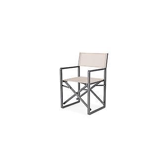 Flughafen7 | Avalon Director Chair Aluminium Textilone |  Mystische Grau-Taupe | Gartenstühle