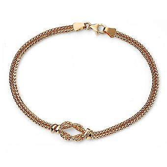 Elements Gold Elements 9ct Yellow Gold Rope Knot Bracelet GB429