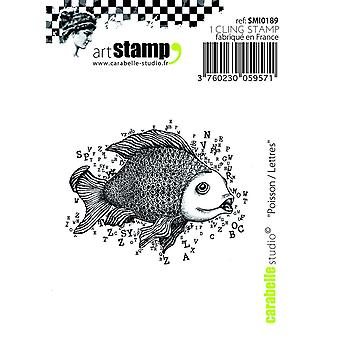 Carabelle Studio Cling Stamp - Fish Letters