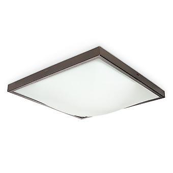 Sollux STUDIO 2 Light Flush Square Ceiling Light Wenge SL.0015