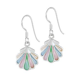 Eternal Collection Iridescent Mother Of Pearl Shell Sterling Silver Drop Pierced Earrings