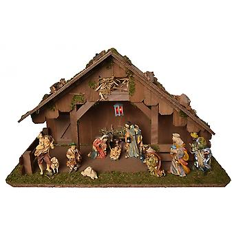 Crib CHRISTMAS JOY Wooden crib Christmas crib Christmas nativity scene small