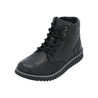 Geox JR WONG BOY Kids Niños Mocasinnegro Slip-Ons Zapatos de Negocios