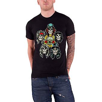 Guns N Roses T Shirt têtes Vintage Logo en détresse Mens officiel New Black