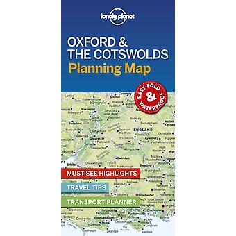 Lonely Planet Oxford  the Cotswolds Planning Map