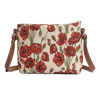 Poppy cross body shoulder bag by signare tapestry / xb02-pop