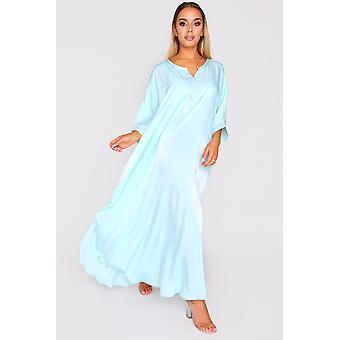 Kaftan sabine short sleeve lightweight maxi dress in nile
