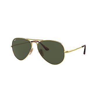Ray-Ban RB3689 914731 Gold/Crystal Green Sunglasses