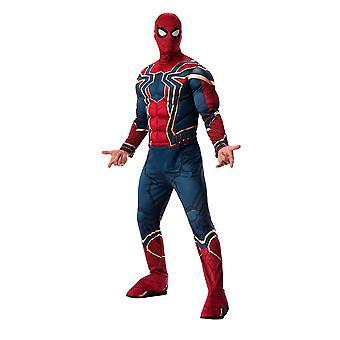 Mens Iron Spiderman Fancy Dress Costume