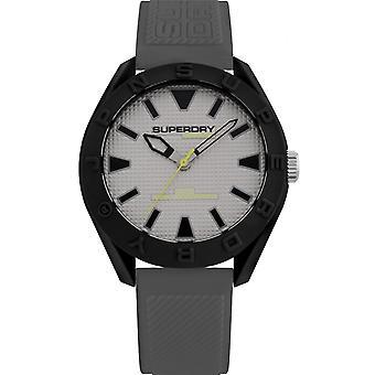 Superdry SYG243EE - Osaka grå grå mand silikoneetui silikone armbånd Watch