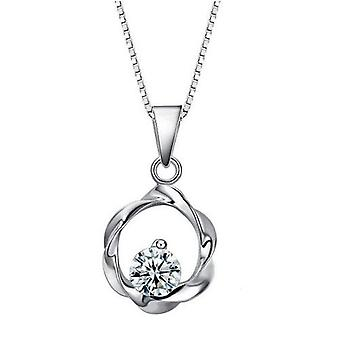 18k white-gold plated moonlight necklace