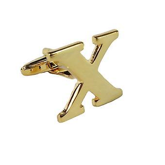 Gold Cufflink Letter X