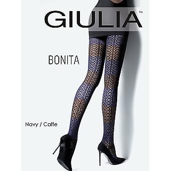 Giulia Bonita Patterned Cotton Tights Model 2 - Hosiery Outlet