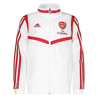 2019-2020 Arsenal Adidas presentasjon Jacket (hvit)-barn