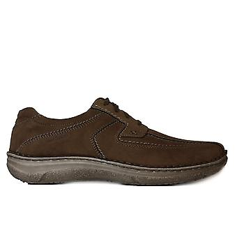 Josef Seibel Anvers 08 Taupe Nubuck Leather Mens Lace Up Shoes