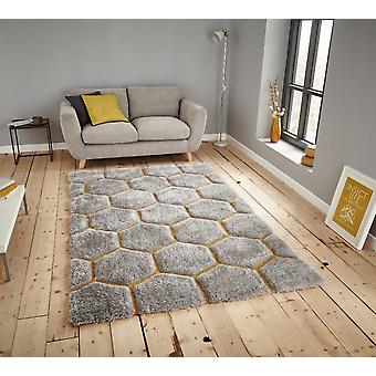 Noble House 30782 30782 Grey Yellow  Rectangle Rugs Funky Rugs
