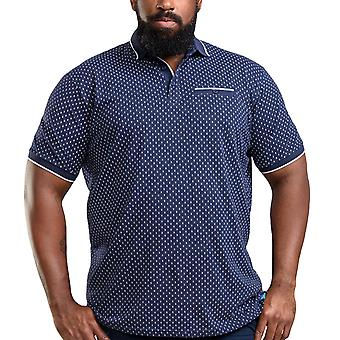 Duke D555 Mens Rogers Big Tall King Size Cotton Casual Polo Shirt Tee Top - Navy