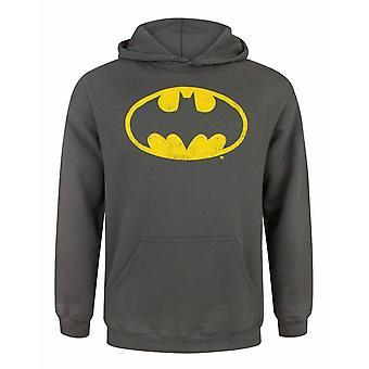 Batman Ahdistunut Logo Harmaa Miesten & Apos;s Huppari