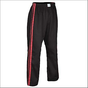 Bytomic Kids Double Stripe contact Pant zwart/rood