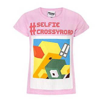 Crossy Road Hashtag Selfie Girl's T-Shirt