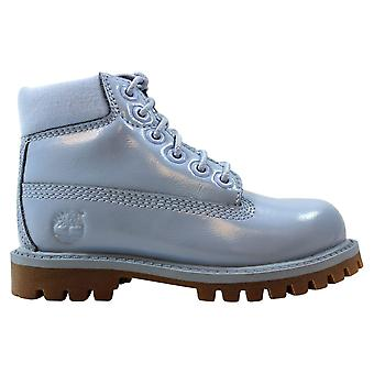 Timberland 6 Inch Premium Waterproof Light Blue Shine TB01981A Pre-School