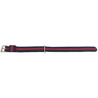 Daniel wellington oxford style watch strap n.a.t.o gold plated buckle 18mm