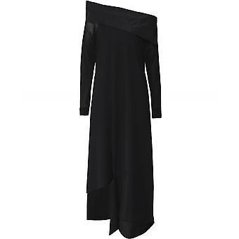Xenia design uit de schouder maxi jurk
