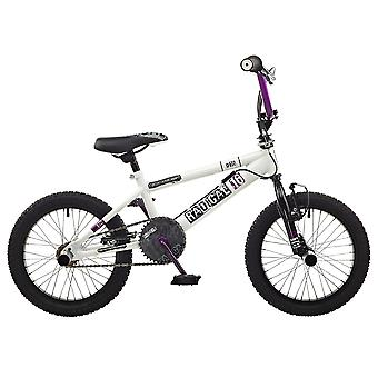 Rooster Radical 16 BMX Bike White/Purple with 16