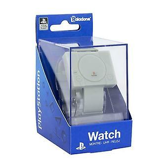 Playstation Digital Wrist Watch Consola Retro en forma de Silicio con Alarma y Luz