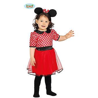 Comic Maus Mädchen Kostüm Mini Maus Kinderkostüm