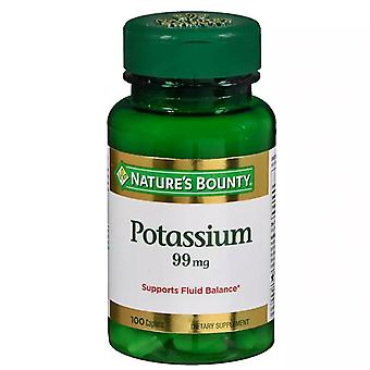 Nature's bounty potassium gluconate, 99 mg, caplets, 100 ea