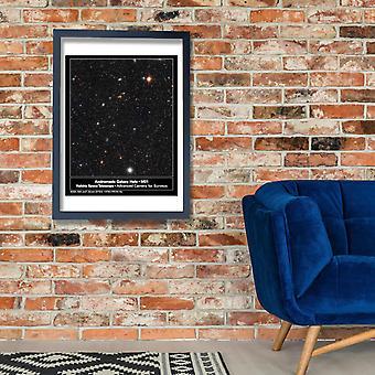 Hubble Telescope - M31 Andromeda Galaxy Deep Field Poster Print Giclee