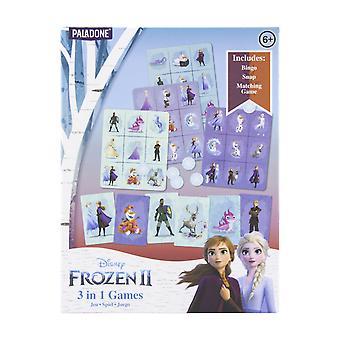 Disney Frozen 3 en 1 Juegos Perfecto para Fiestas Bingo ? Snap ? Juego de emparejamiento