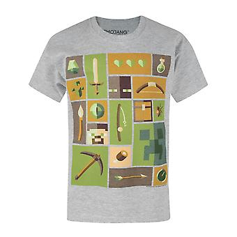 Minecraft Creeper Explorer Grey Short Sleeve Boy's T-Shirt